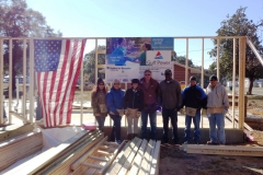 Gulf Power Team raises the first wall of Home #60