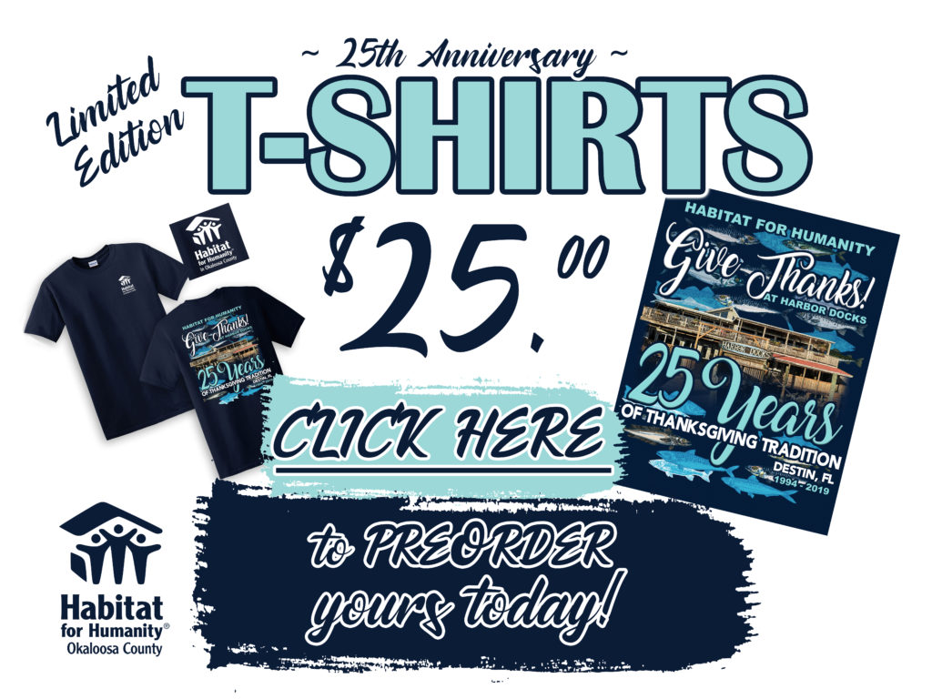 2019 Thanksgiving at Harbor Docks Shirt - 25th Anniversary (Preorder Online)